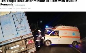Accident Ialomița pe Euronews