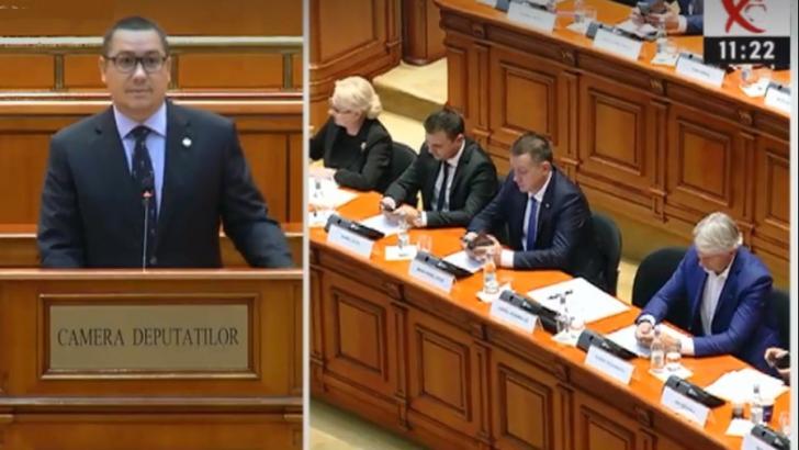 Victor Ponta, în ziua moțiunii de cenzură