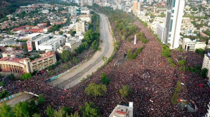 Protest masiv în Chile: Un milion de oameni în stradă - 5% din populația țării