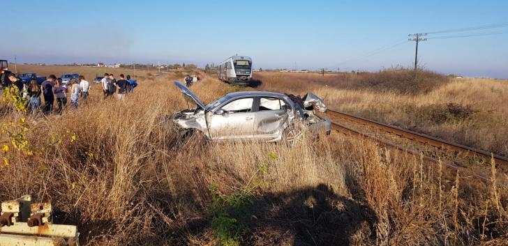 Accident feroviar, în apropierea unei gări din Olt. Un băiat de 14 ani, la spital – VIDEO