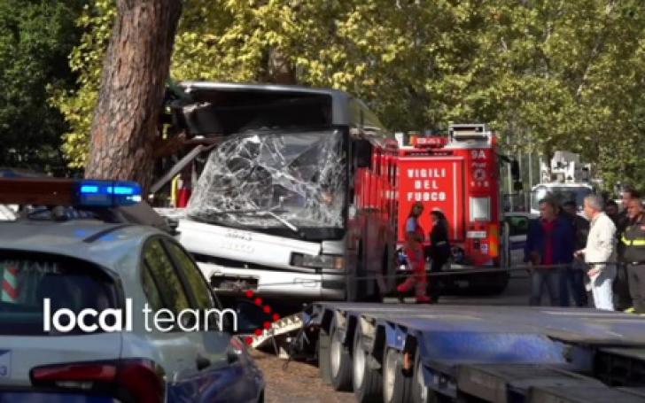 <p>Accident înfiorător, în Roma: zeci de victime, după ce un autobuz a intrat într-un copac</p>