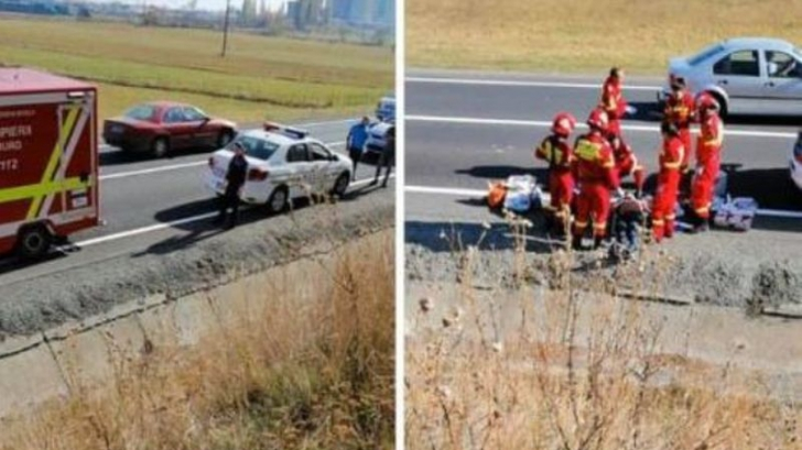 Scene șocante, în trafic, pe DN1! Bărbat mort, după ce s-a aruncat, din mers, din autocar
