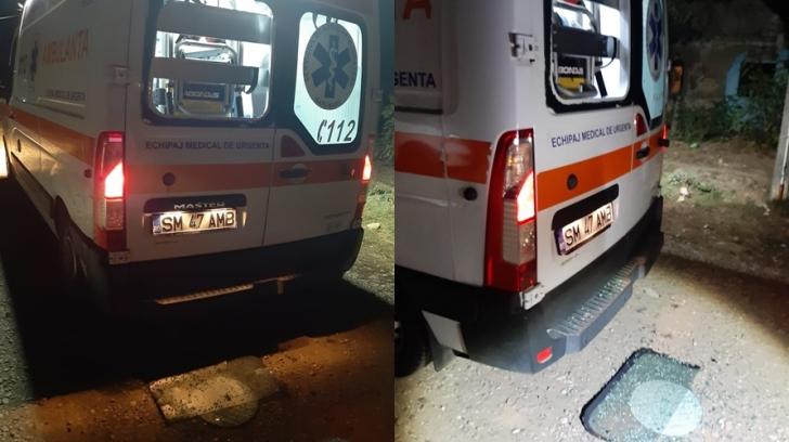 Atac cu pietre asupra unei ambulanțe în județul Satu Mare