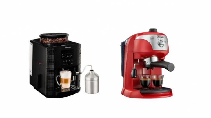 Reduceri eMAG espressor. TOP 10 oferte la aparate care fac cea mai bună cafea