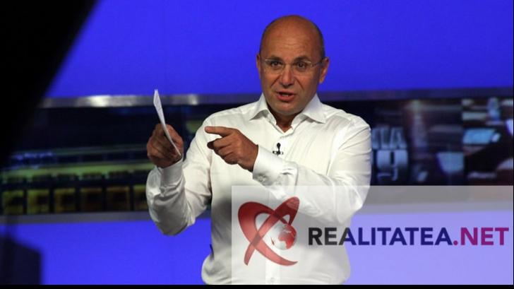 Cozmin Gusa, in studioul Realitatea TV. Foto: Cristian Otopeanu