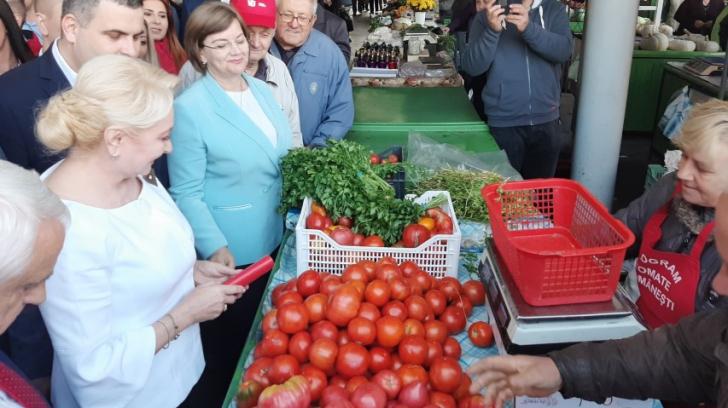 Viorica Dăncilă a făcut piața, la Satu Mare