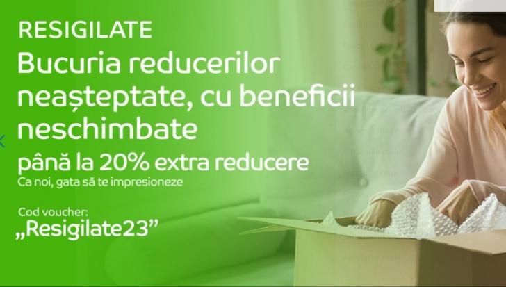 eMAG - Extra reduceri de 20% pentru resigilate