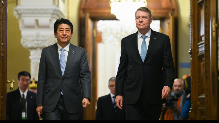 Iohannis, întâlnire cu Shinzo Abe