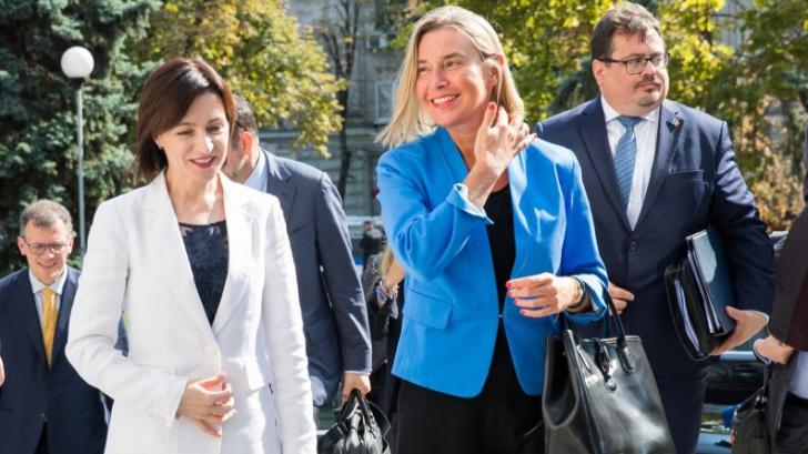 Federica Mogherini anunță, la Chișinău, deblocarea asistenței financiare a UE pentru Moldova