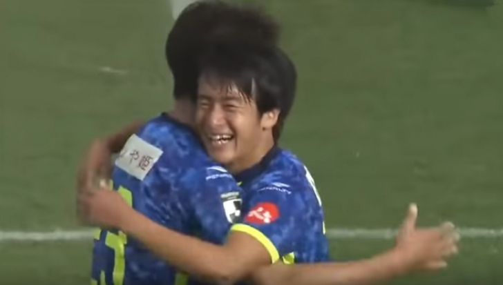 Faze bizare la un meci de fotbal din Japonia