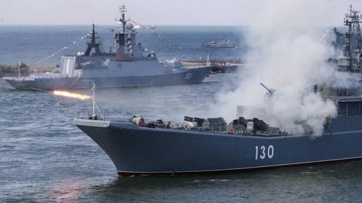 Rusia desfăşoară exerciţii militare de amploare, cu lansări de rachete, în Marea Neagră