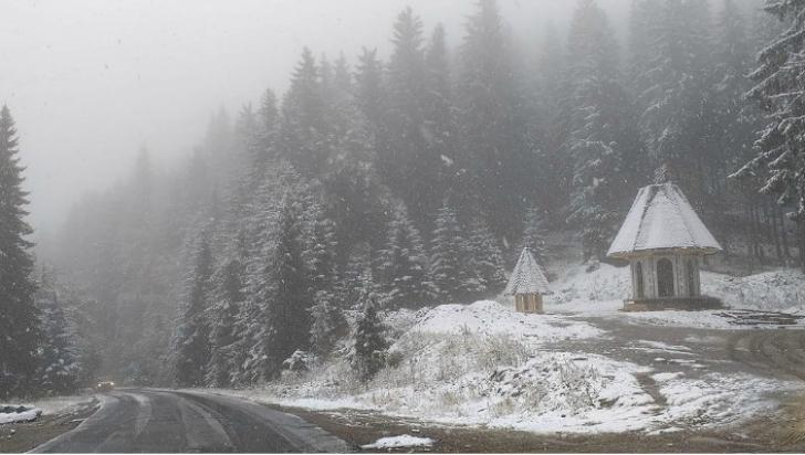 A venit IARNA! Locul din România în care ninge ca în povești. Imagini LIVE