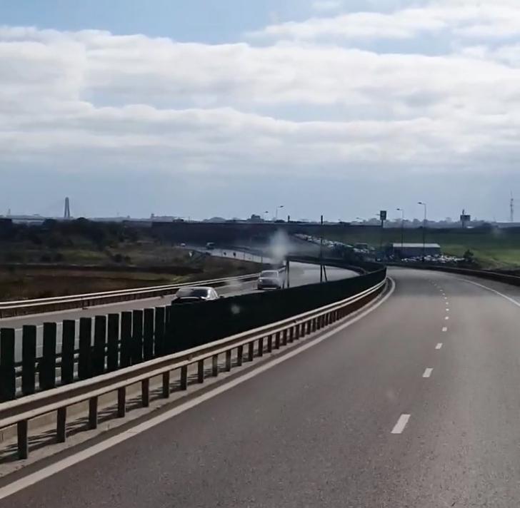 Se întâmplă în Constanța: șofer începător, cu mașina pe autostradă pe contrasens(Video)