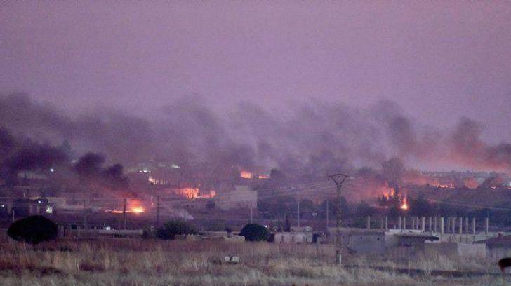 Zona bombardata din Tal Abyad