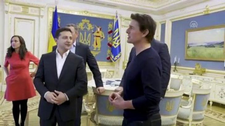 Vladimir Zelenski, întâlnire cu Tom Cruise