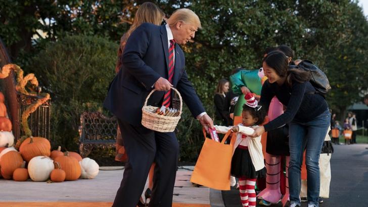 Halloween la Casă Albă. Gestul făcut de Donald Trump