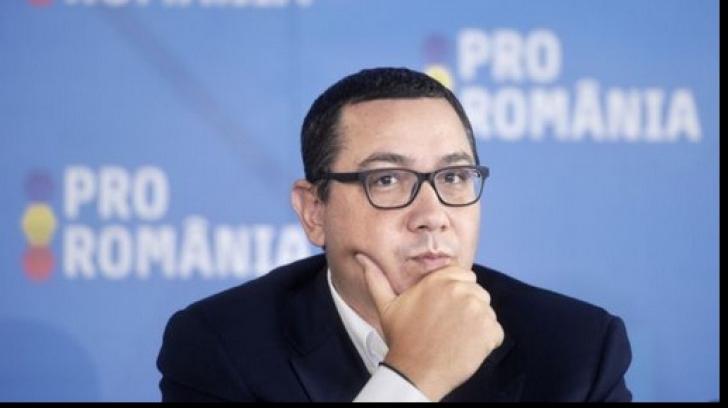 Victor Ponta a anuntat ca demisionarii din Pro Romania pleaca la PNL