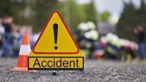 Accident în lanț, în jud. Giurgiu: 7 mașini, făcute praf