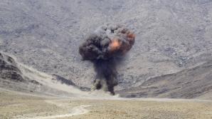 Explozie pe drumul de la școală
