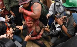 Primărița din Bolivia, bătută