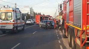 Accident cu patru victime, la Mărăcineni: impact nimicitor între 3 mașini