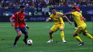 Imagine din meciul Romania - Spania 1-2, din preliminariile Euro 2020. Foto: Cristian Otopeanu
