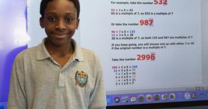 <p>Un tânăr de 12 ani a descoperit o nouă formulă în matematică</p>