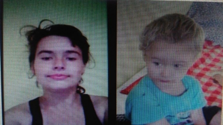 Mama disparuta cu copilul de trei ani