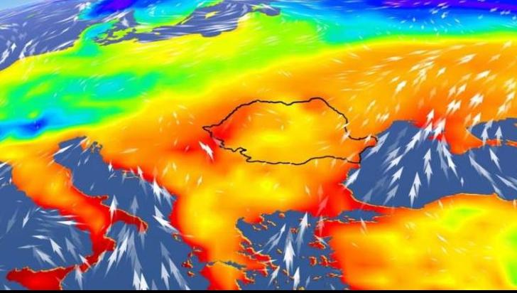 Val de aer tropical în România