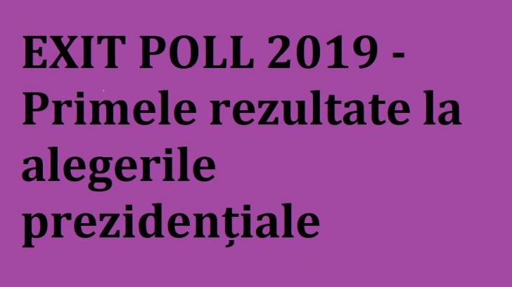Exit poll 2019 alegeri prezidentiale