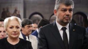 VioricaDăncilă și Marcel Ciolacu