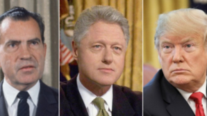 RIchard Nixon, Bill Clinton, Donald Trump