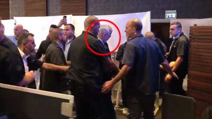 Benjamin Netanyahu, evacuat