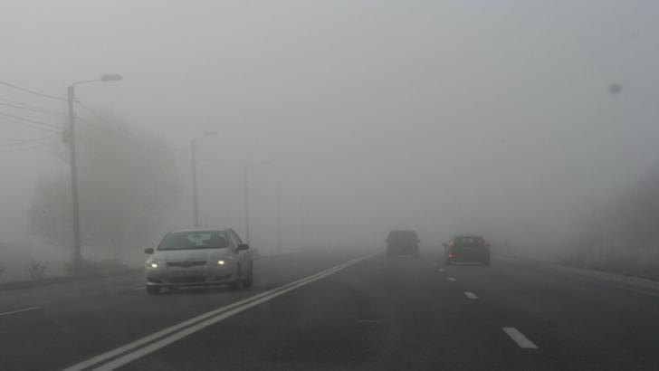 Ceață densă în mai multe județe din țară
