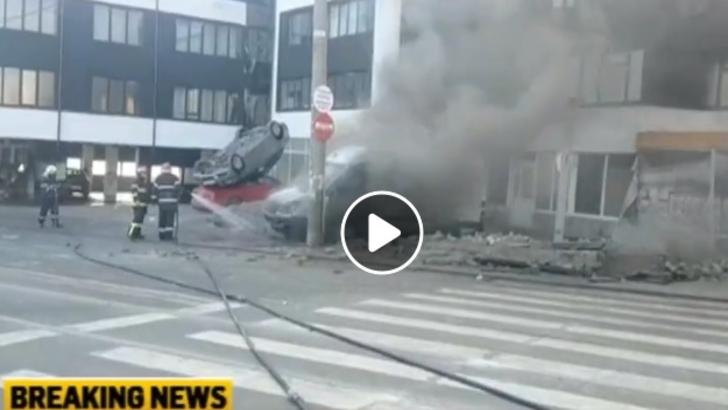 VIDEO Explozie puternica in centrul Galatiului. Cinci ...  |Explozie Galati
