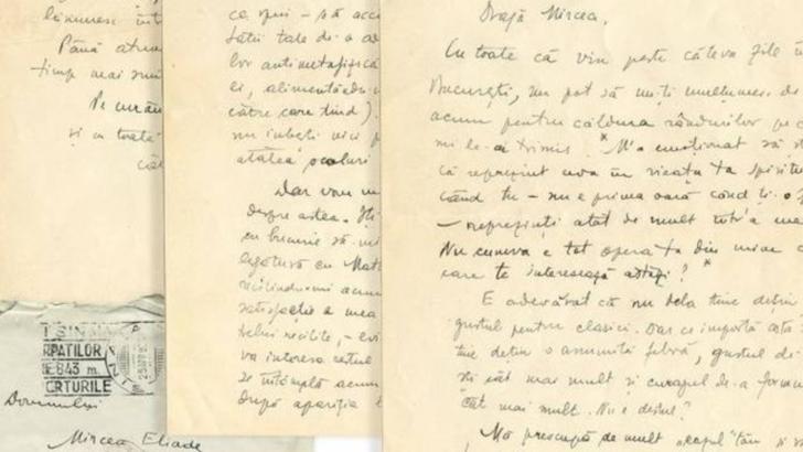 Manuscrise Mircea Eliade Foto: Facebook/Historic