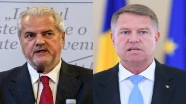 Adrian Năstase, fost premier al României și Klaus Iohannis, actualul președinte