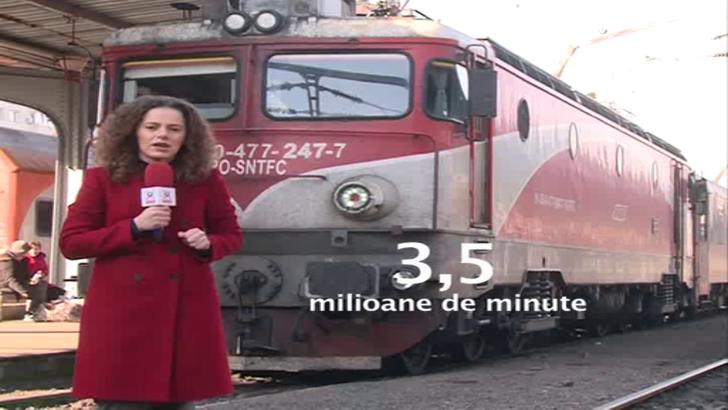 CFR se lauda ca a redus la jumatate numarul restrictiilor de viteza, dar trenurile au intarzieri uluitoare