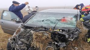 Accident grav, în Timiș: o victimă, după un impact violent
