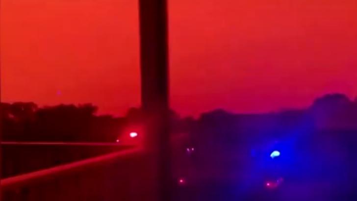 Imagini cutremuratoare din Australia. Cerul s-a facut rosu ca sangele. Bilantul mortilor actualizat