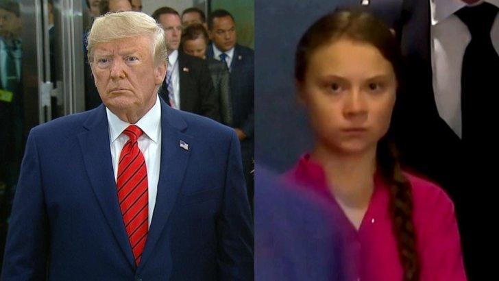 Greta Thunberg i-a dat o replică tăioasă lui Donald Trump, dar fără să-l numească