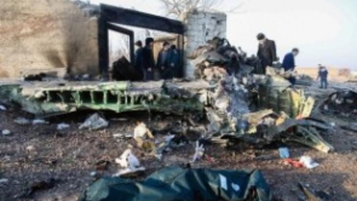 Rămășițele avionului prăbușit în Teheran, Iran