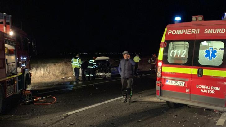 Patru răniți în urma unui accident  cumplit la Buzău