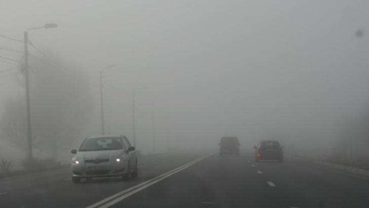 METEO. Cod galben de ceata in 13 judete
