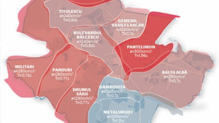 Cutremur in Bucuresti - Harta seismica a Capitalei - Lista cartierelor periculoase