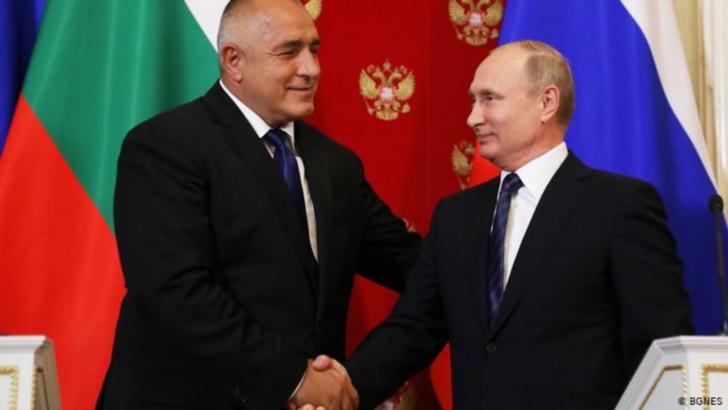 Premierul Bulgariei, Boyko Borissov, și președintele Rusiei, Vladimri Putin