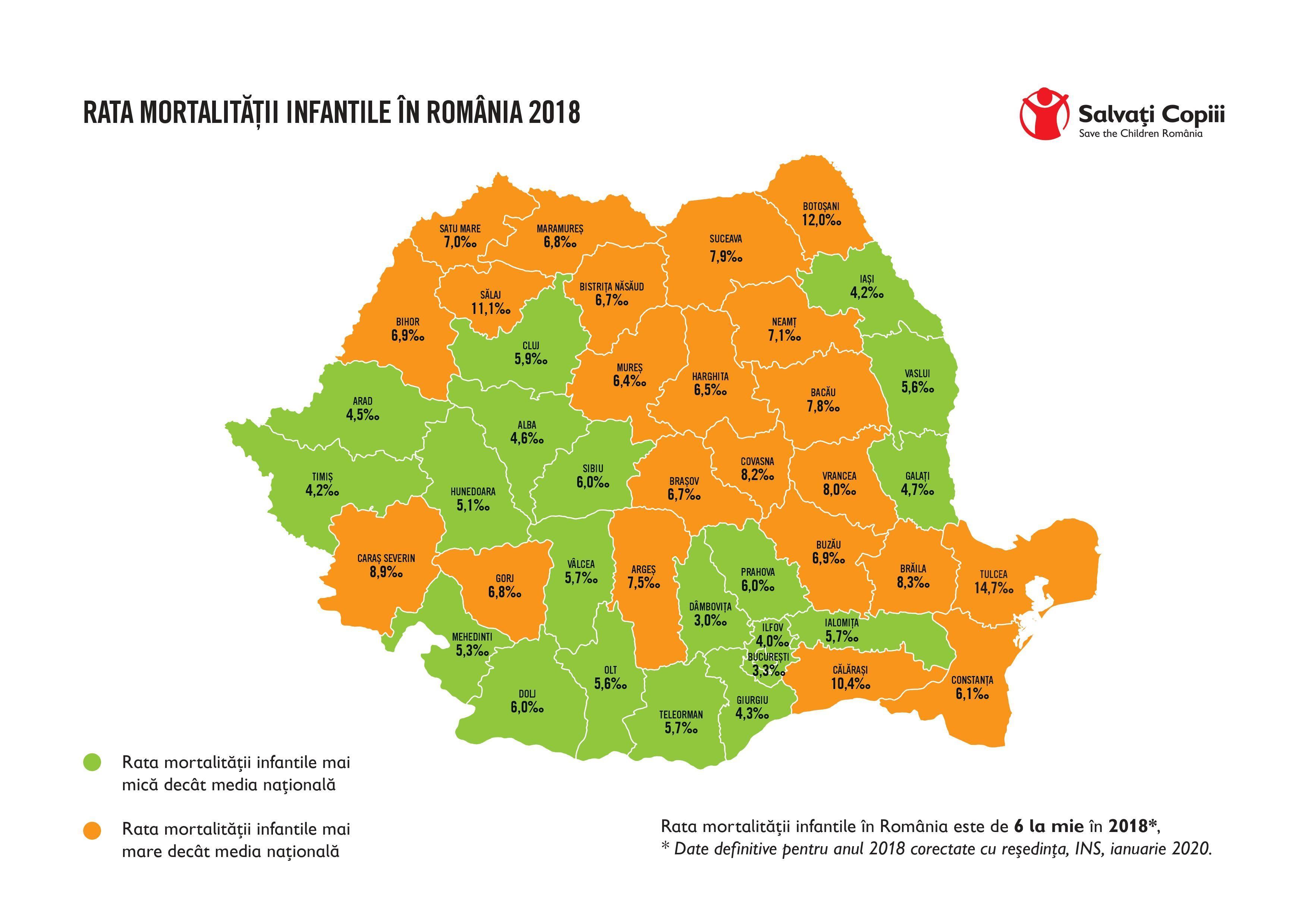 Cifre Dramatice Harta Mortalității Infantile Din Romania
