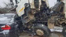 Accident în lanț, pe DN 7, în Arad: două victime