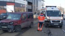 ambulanta implicata intr-un accident