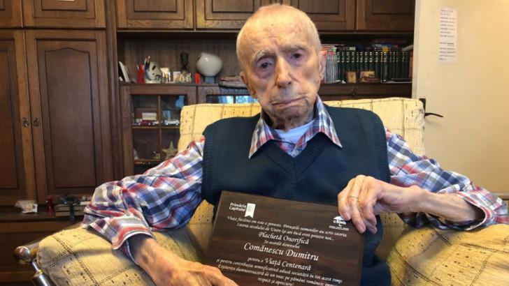 Dumitru Comanescu, de 111 ani si 3 luni, in TOP 100 cei mai longevivi oameni ai lumii